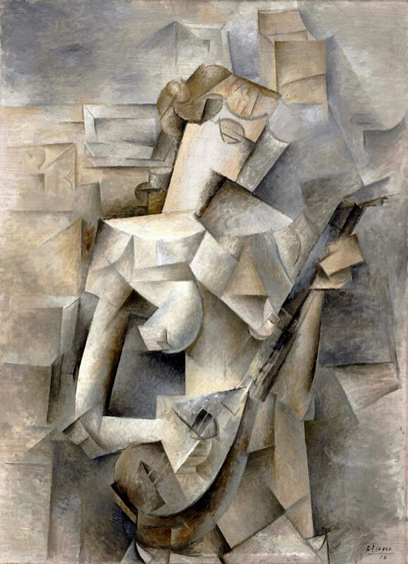 Girl with a Mandolin - Pablo Picasso 1910 from Aux Beaux-Arts Decor Image
