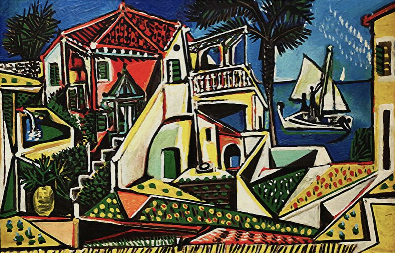 Mediterranean Landscape - PABLO PICASSO from Aux Beaux-Arts Decor Image