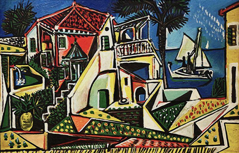 Paysage méditerranéen - PABLO PICASSO de AUX BEAUX-ARTS Decor Image