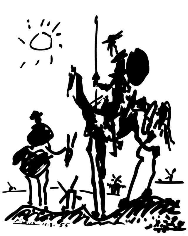 Don Quichotte - PABLO PICASSO de Aux Beaux-Arts Decor Image