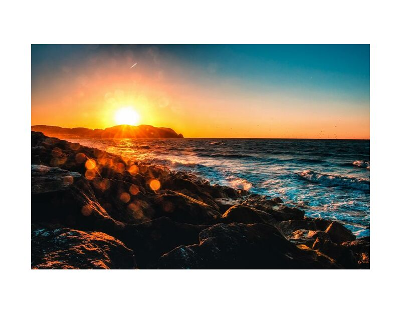 الوجود from Aliss ART, Prodi Art, side, dusk, evening, horizon, landscape, ocean, rocks, sea, seascape, seashore, sky, Sun, sun glare, sunset, water, waves, rock formation, rocky, sea side