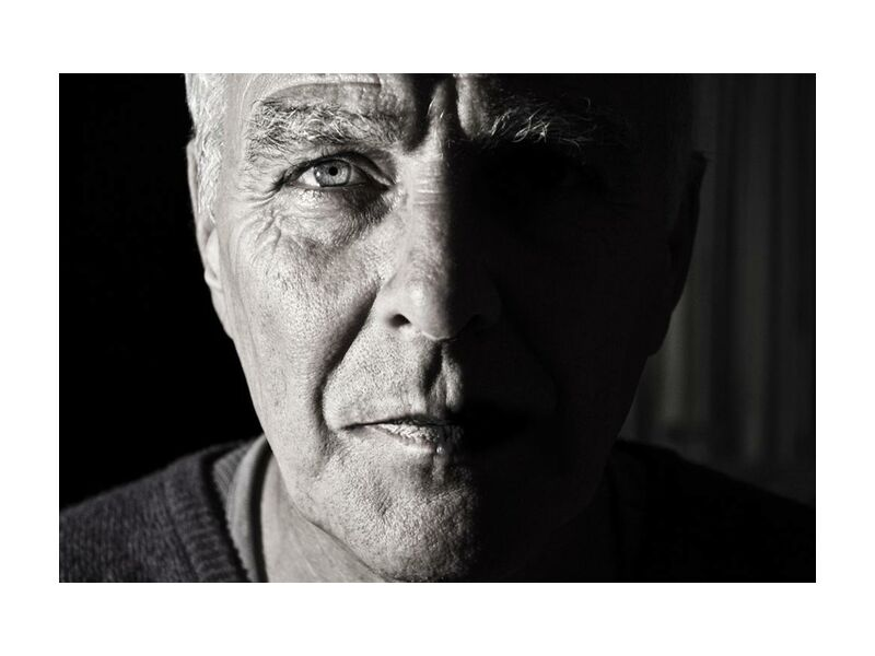 Temps marqué from Aliss ART, Prodi Art, wrinkles, grandparent, grandpa, elderly, elder, crinkles, portrait, old, man, black-and-white