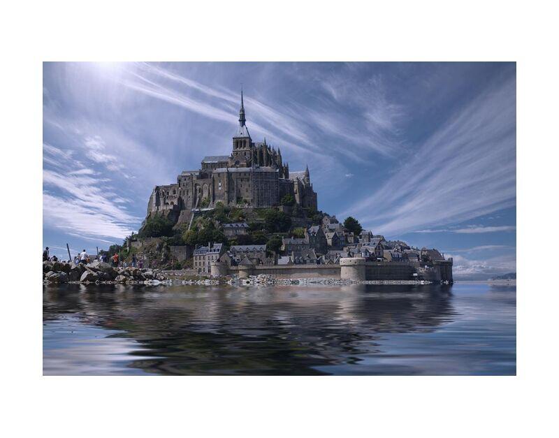 مونت سانت ميشيل from Aliss ART, Prodi Art, touristic, Mont Saint Michel, monastery, landmark, historic, gothic, fortress, fort, cathedral, chateau, ancient, water, old, island, France, clouds, church, architecture