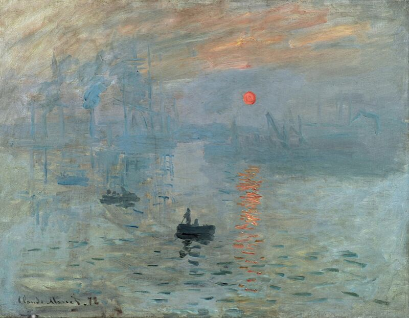 Impression, Sunrise 1872 - CLAUDE MONET from AUX BEAUX-ARTS Decor Image