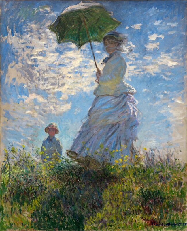 The Stroll - CLAUDE MONET 1875 from Aux Beaux-Arts Decor Image