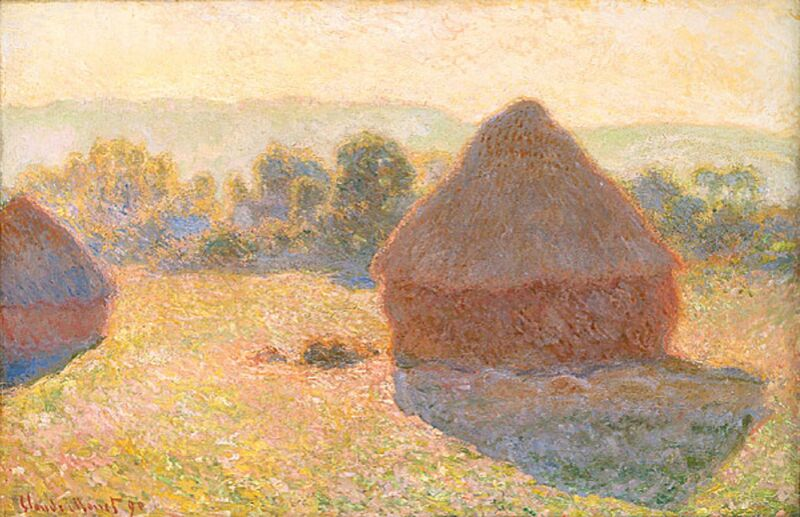 Haystacks, middle of the day - CLAUDE MONET 1891 from Aux Beaux-Arts Decor Image