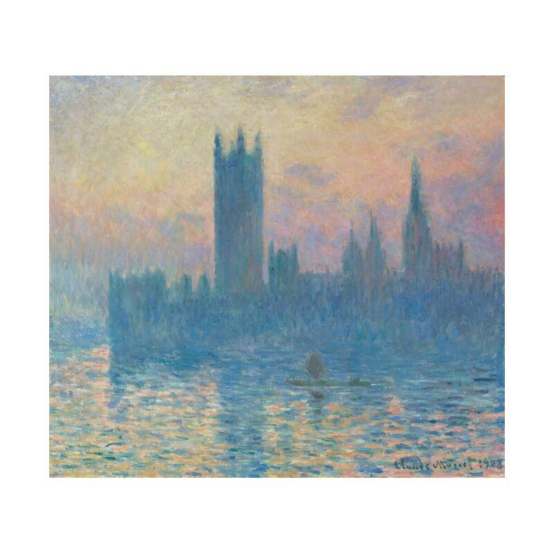 Houses of Parliament, London - CLAUDE MONET 1905 from Aux Beaux-Arts, Prodi Art, River, london, Thames, capital, parliament, parliament of London, CLAUDE MONE