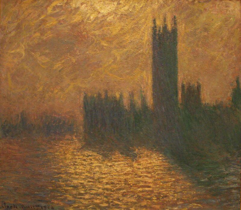 Houses of Parliament, stormy sky - CLAUDE MONET 1905 desde AUX BEAUX-ARTS Decor Image