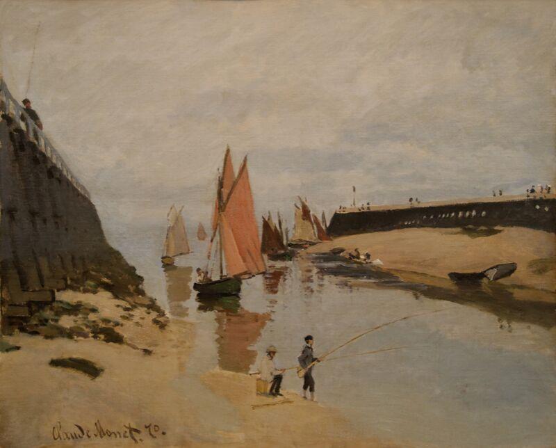 The harbour at Trouville - CLAUDE MONET 1870 desde AUX BEAUX-ARTS Decor Image