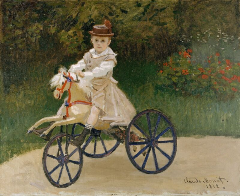 Jean Monet on his Hobby Horse  - CLAUDE MONET 1872 from Aux Beaux-Arts Decor Image