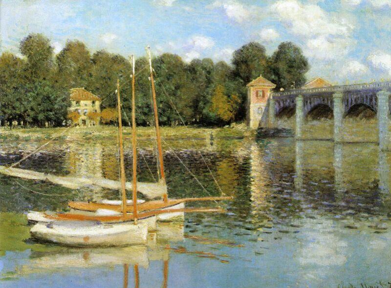 The Argenteuil Bridge - CLAUDE MONET 1874 desde AUX BEAUX-ARTS Decor Image