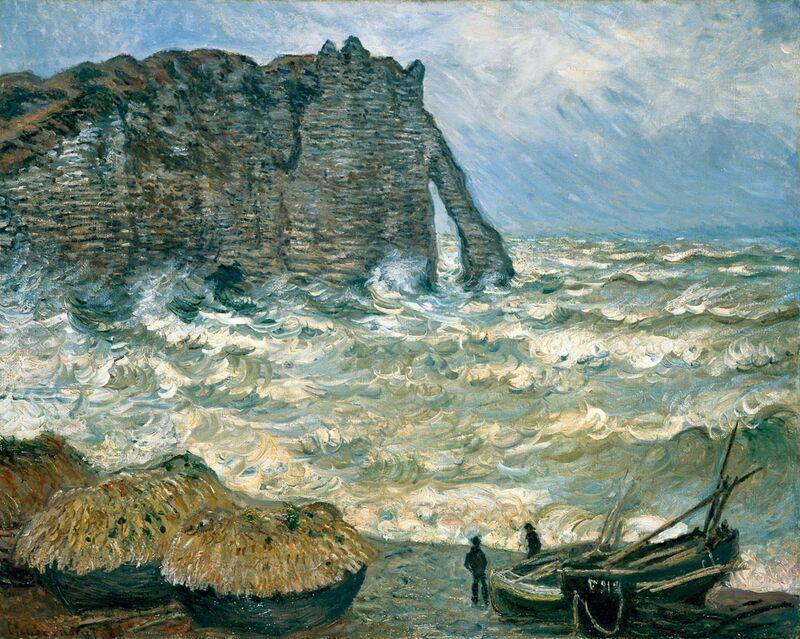 Stormy Sea in Étretat - CLAUDE MONET 1883 from AUX BEAUX-ARTS Decor Image