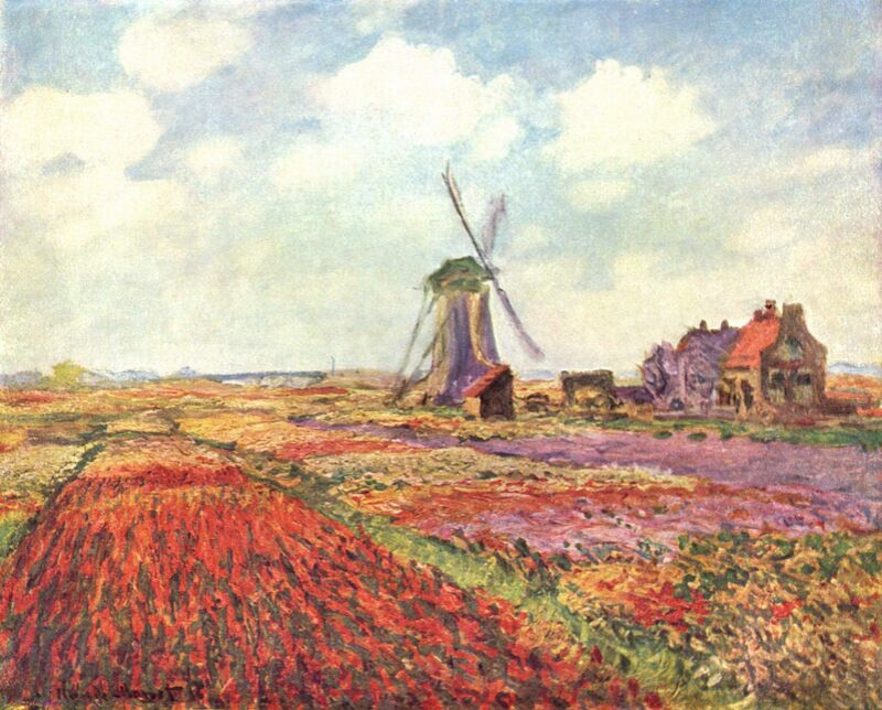 Tulip fields in Holland - CLAUDE MONET 1886 from AUX BEAUX-ARTS Decor Image