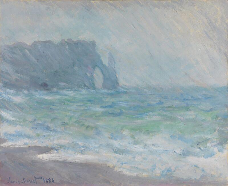 Étretat in the rain - CLAUDE MONET 1886 desde AUX BEAUX-ARTS Decor Image