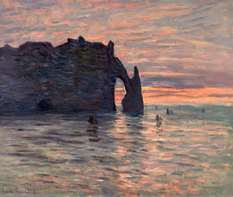 Sunset in Etretat - CLAUDE MONET 1883 from AUX BEAUX-ARTS Decor Image