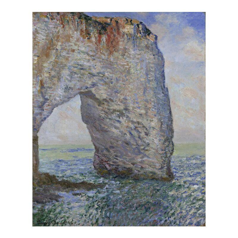 The Manneporte near Étretat - CLAUDE MONET 1886 from Aux Beaux-Arts, Prodi Art, cliff, sea, ocean, sky, beach, holiday, CLAUDE MONET, blue sky