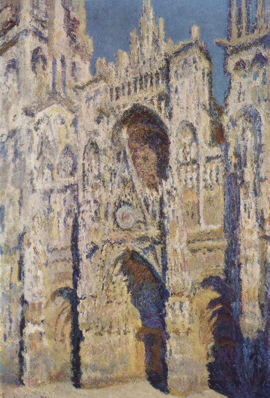 Rouen Cathedral, West Facade, Sunlight - CLAUDE MONET 1894 from AUX BEAUX-ARTS Decor Image