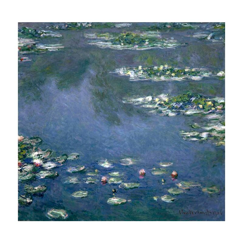 Water Lilies - CLAUDE MONET from Aux Beaux-Arts, Prodi Art, , nymphéas, CLAUDE MONET, beach, holiday, painting, nature, green, blue, water, lake
