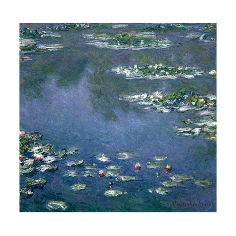 Water Lilies - CLAUDE MONET desde AUX BEAUX-ARTS, Prodi Art, lago, agua, azul, verde, naturaleza, pintura, fiesta, playa, CLAUDE MONET, ninfómanas, marre