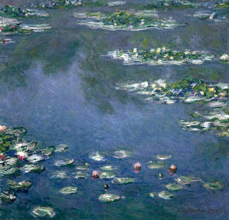 Water Lilies - CLAUDE MONET from AUX BEAUX-ARTS Decor Image