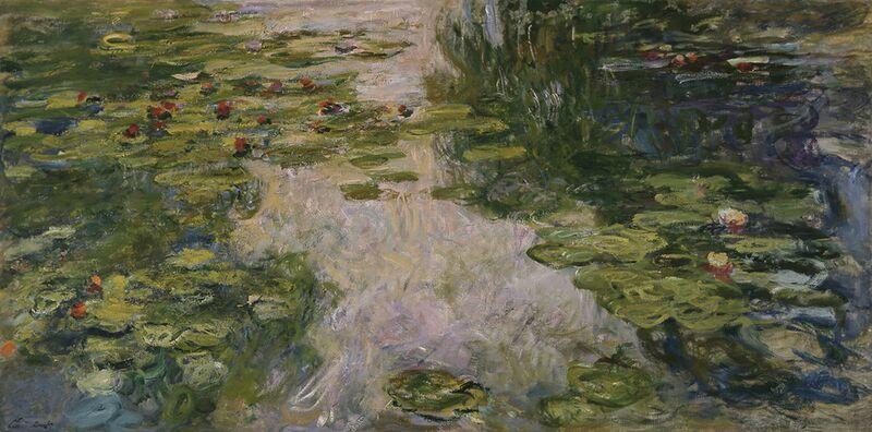 Water Lilies - CLAUDE MONET - 1917 from AUX BEAUX-ARTS Decor Image