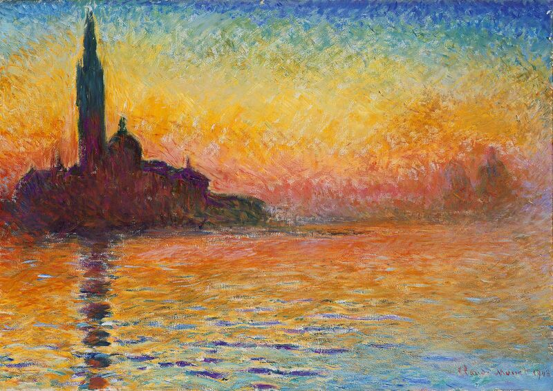 San Giorgio Maggiore at Dusk - CLAUDE MONET from Aux Beaux-Arts Decor Image