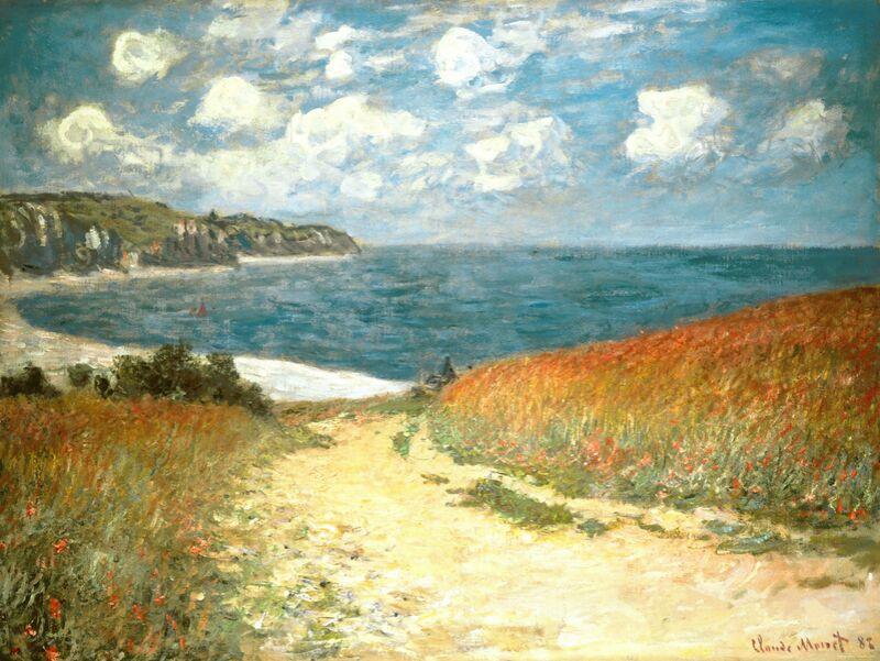 Chemin dans les blés à Pourville - CLAUDE MONET - 1882 de Aux Beaux-Arts Decor Image