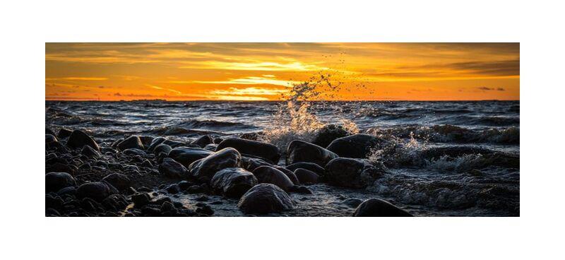 Rochers sur mer de Aliss ART, Prodi Art, marée, rive, vagues, eau, Voyage, laps de temps, couché de soleil, soleil, éclaboussure, ciel, rivage, paysage marin, mer, des roches, , océan, longue exposition, paysage, soir, crépuscule, Aube, nuages, plage