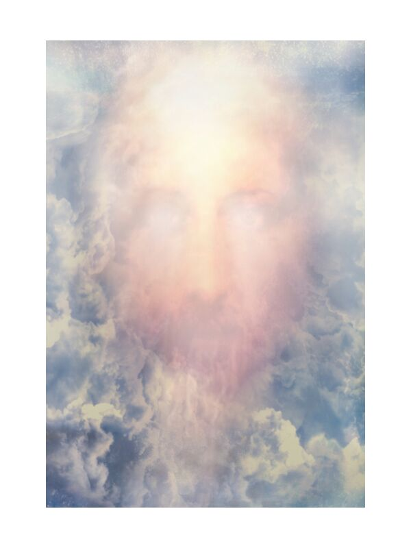 The Messiah in glory from Adam da Silva, Prodi Art, God, kingdom, Prophet, glory, Messiah, christ, Jesus, smile, paradise, sky, face, blue, clouds