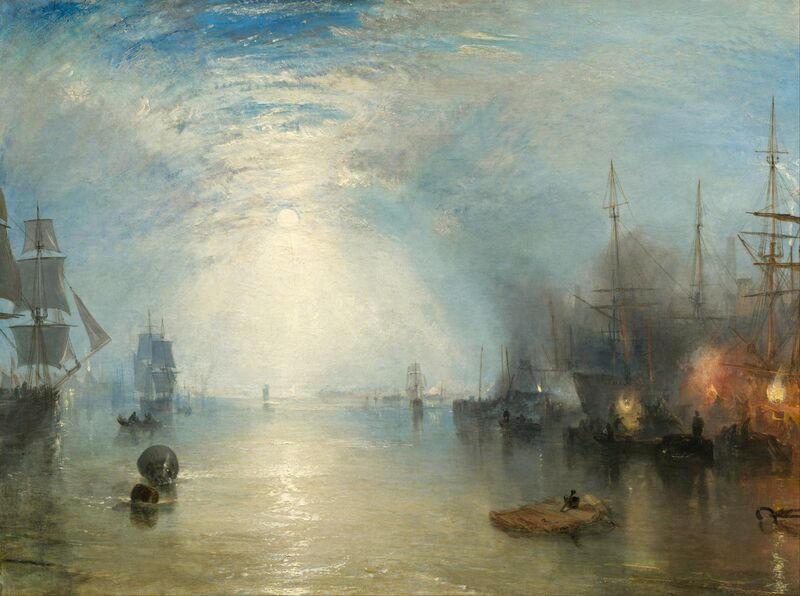 Keelmen Heaving in Coals by Moonlight - WILLIAM TURNER 1835 from AUX BEAUX-ARTS Decor Image