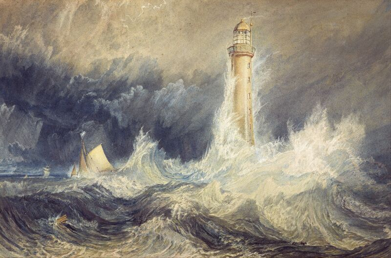 Bell Rock Lighthouse - WILLIAM TURNER 1824 from Aux Beaux-Arts Decor Image