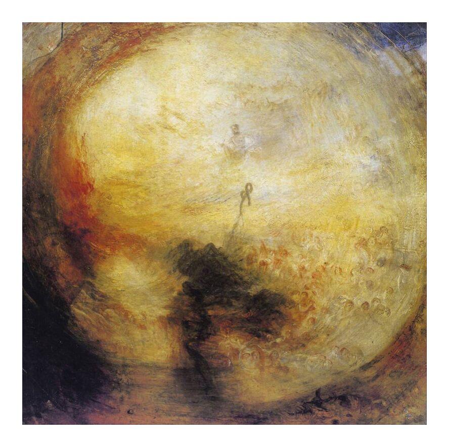 The Morning after the Deluge - WILLIAM TURNER 1843 from Aux Beaux-Arts, Prodi Art, painting, WILLIAM TURNER, God, storm, death, downpour, soul, living, apocalypse, revelation, Last judgement