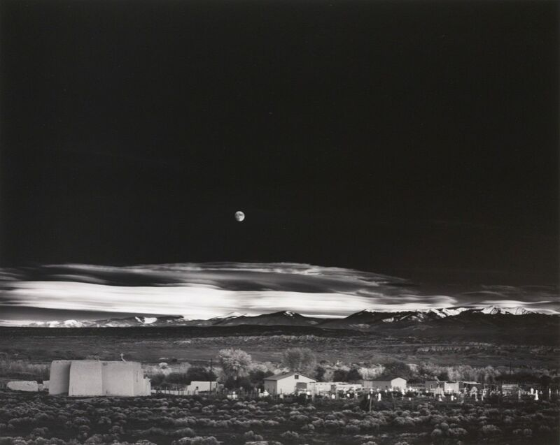 Moonrise over Hernandez New Mexico - Ansel Adams 1941 from Aux Beaux-Arts Decor Image
