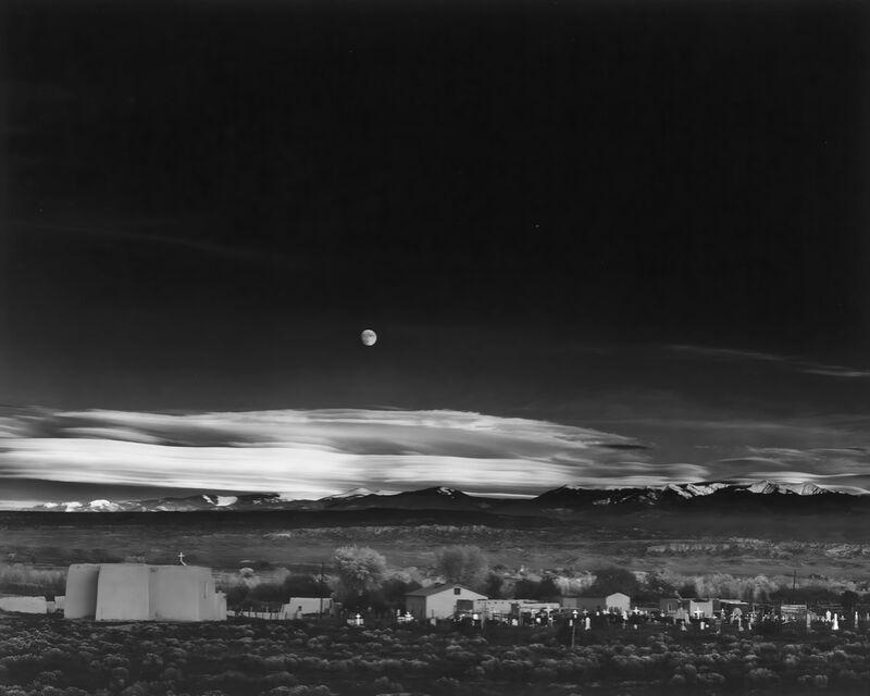 Moonrise over Hernandez New Mexico - Ansel Adams 1941 desde AUX BEAUX-ARTS Decor Image