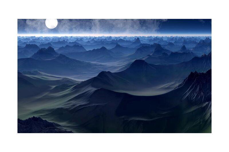 الجبل على البحر from Aliss ART, Prodi Art, waves, travel, Sun, sea, scenic, outdoors, ocean, nature, Moon, landscape, horizon, high, full moon, evening, dusk, dawn, clouds, bright, background, abstract