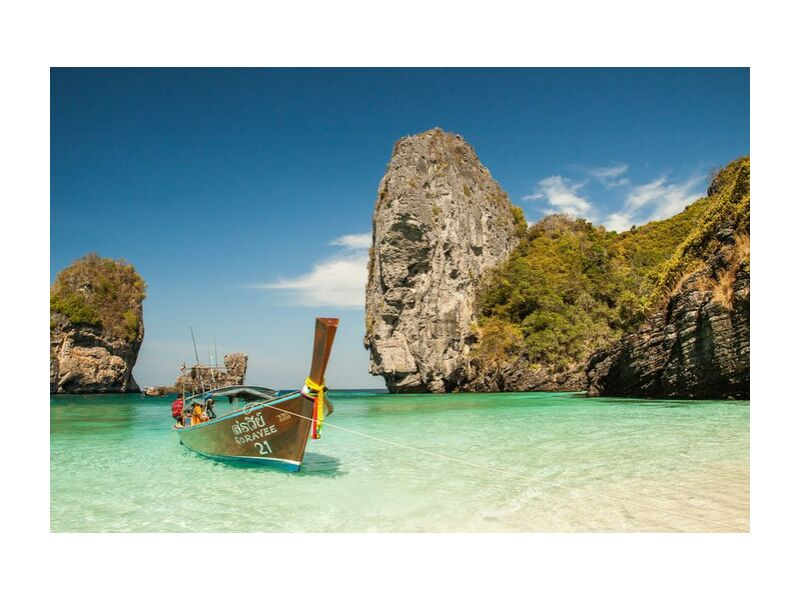 Soravee from Aliss ART, Prodi Art, beach, boat, idyllic, island, lagoon, ocean, paradise, sand, sea, seascape, seashore, tropical, vacation, water, mirophotographywordpresscom, watercraft