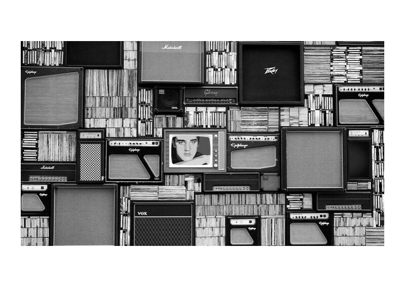 The library from Aliss ART, Prodi Art, artist, box, chrome, design, equipment, industry, male, man, modern, monochrome, music, professional, retro, rock, room, studio, style, technology, vintage, wall, acoustic, amplifier, audio, black and-white, bookcase, cd, classic, dynamic, entertainment, icon, instrument, library, media, musician, pop, radio, record, recorder, row, shelf, singer, sound, speaker, tuner, vinyl, volume