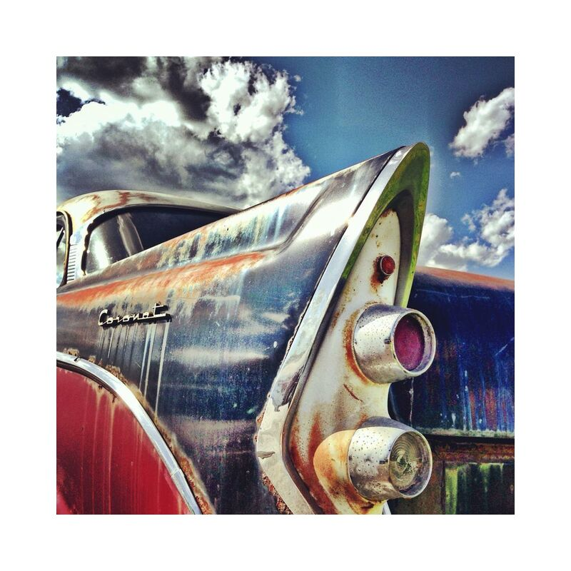Pop car from Aliss ART, Prodi Art, oldtimer, coronet, raw, rust, car