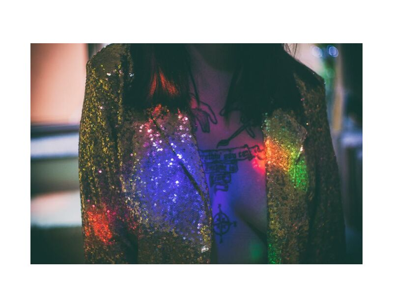 بريق from Aliss ART, Prodi Art, tattoo, jacket, woman, sparkling, rainbow, celebration, light, glitter, glisten, festival, fashion, design, dark, color, bright, art, abstract