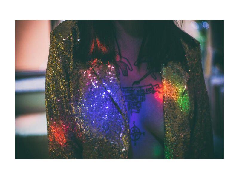 Shiny from Aliss ART, Prodi Art, abstract, art, bright, color, dark, design, fashion, festival, glisten, glitter, light, party, rainbow, shining, sparkling, woman, jacket, tattoo