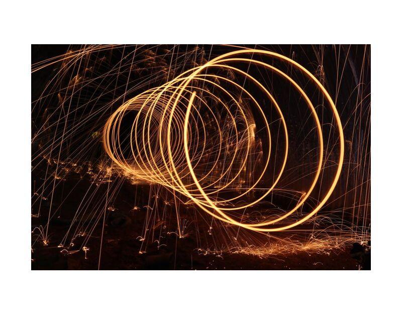 Sparks from Aliss ART, Prodi Art, sparks, time-lapse, night, lights, dark