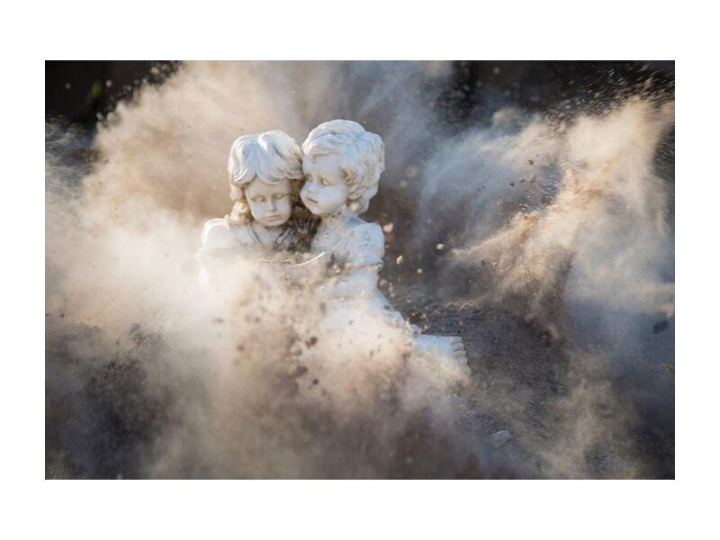 Innocence from Aliss ART, Prodi Art, abstract, art, boy, colors, daylight, girl, outdoors, rocks, stones, angelic, explosion, damaged, dust, innocent, justifyyourlove, statues