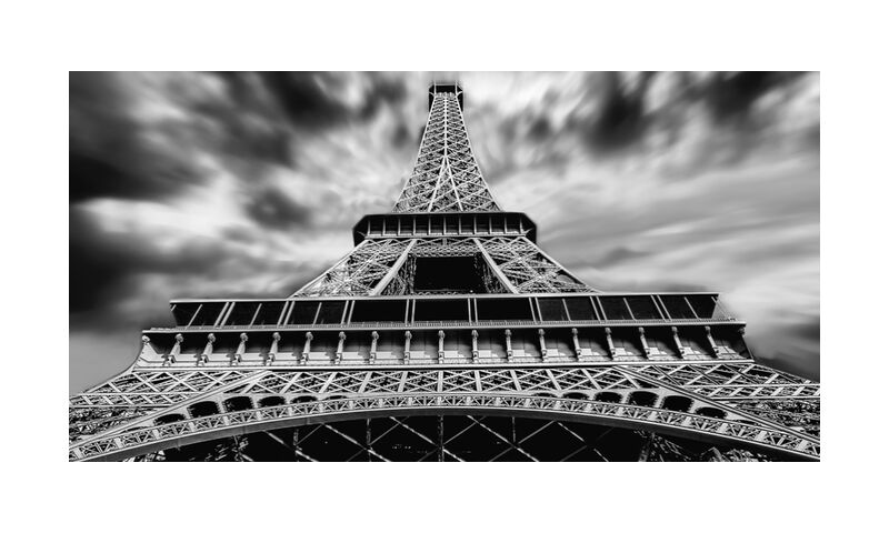 Colère du ciel from Aliss ART, Prodi Art, architecture, black-and-white, Eiffel Tower, landmark, low angle shot, Paris, outlook, tall, tower, Urban