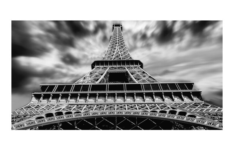 Anger from the sky from Aliss ART, Prodi Art, Urban, tower, tall, outlook, Paris, low angle shot, landmark, Eiffel Tower, black-and-white, architecture
