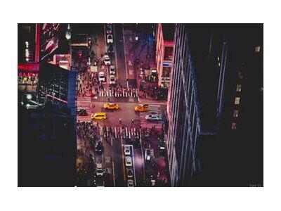 New-York by night de Caro Li, Prodi Art, Photographie d'art, Impression d'art, Tailles de cadre standard, Prodi Art