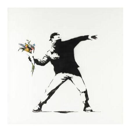 Love Is in the Air - BANKSY from AUX BEAUX-ARTS, Prodi Art, Art photography, Giclée Art print, Prodi Art