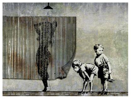Shower Peepers - BANKSY from AUX BEAUX-ARTS, Prodi Art, Art photography, Giclée Art print, Prodi Art