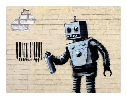 Robot - BANKSY from AUX BEAUX-ARTS, Prodi Art, Art photography, Giclée Art print, Prodi Art