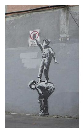 Graffiti Is a Crime - BANKSY from AUX BEAUX-ARTS, Prodi Art, Art photography, Giclée Art print, Prodi Art