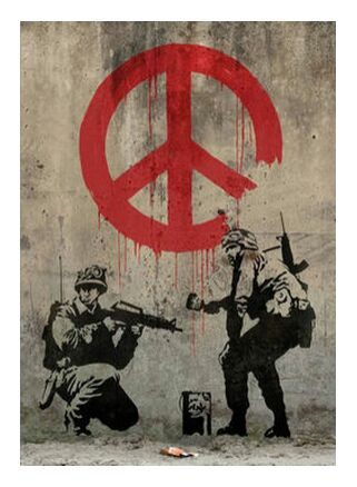 Peace - BANKSY from AUX BEAUX-ARTS, Prodi Art, Art photography, Giclée Art print, Prodi Art